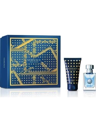Versace Pour Homme EDT 30 ml + 50 ml Şampuan Erkek Parfüm Seti Renksiz